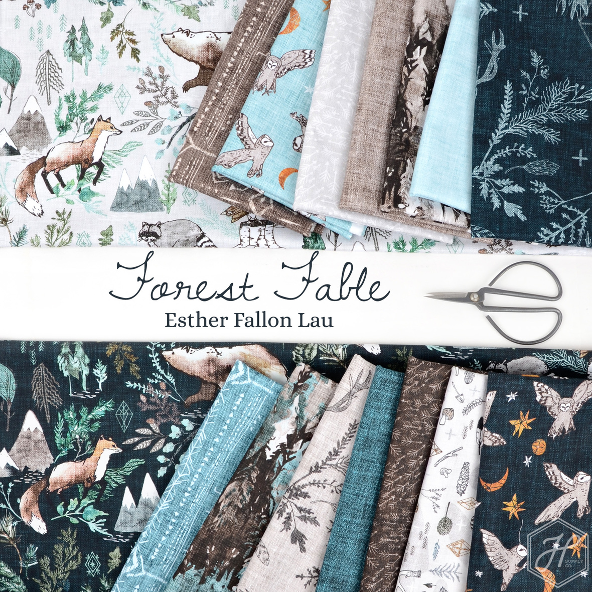 Forest Fable Fabric Esther Fallon Lau for Figo at Hawthorne Supply Co