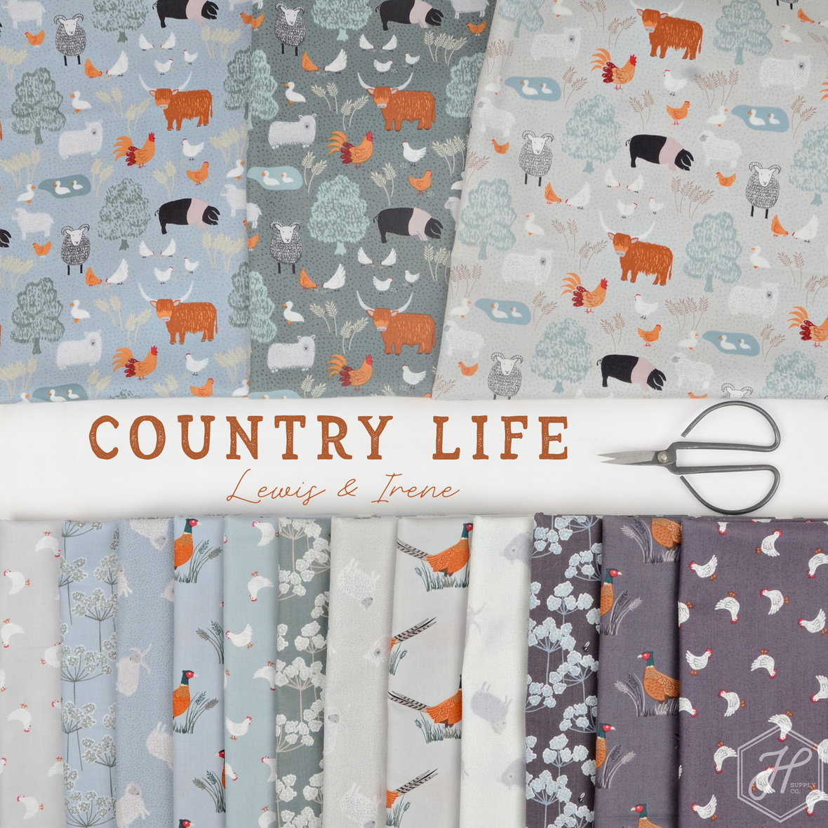 Country Life Fabric Lewis and Irene at Hawthorne Supply Co