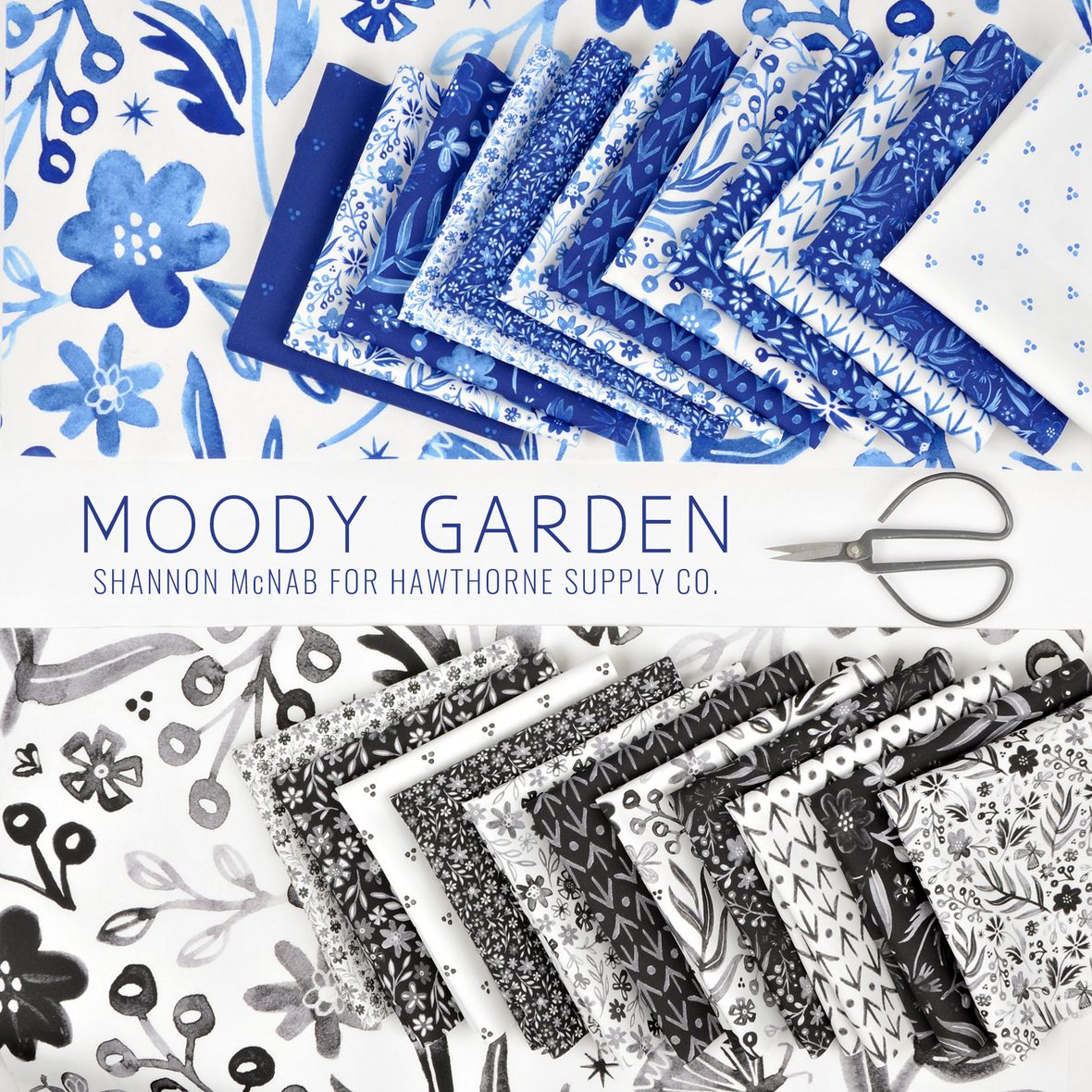 Moody Garden Fabric Shannon McNab for Hawthorne Supply Co