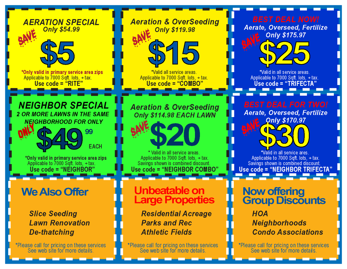 Aeration Coupons 2021 fall