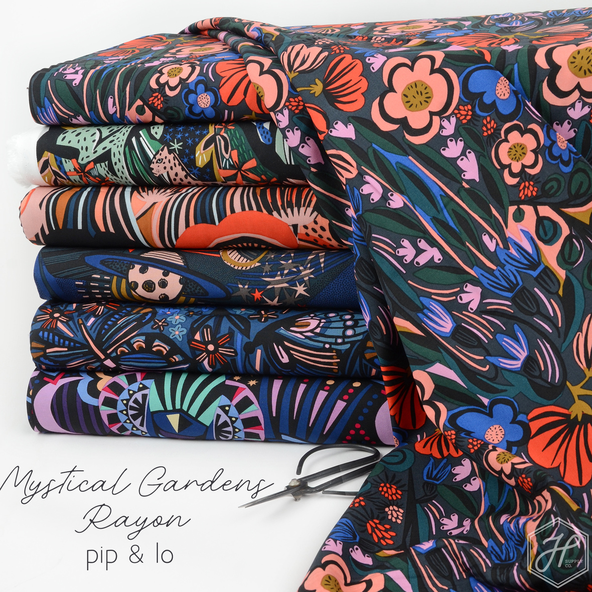 Mystical Gardens Rayon Pip and Lo for Cloud 9 at Hawthorne Supply Co