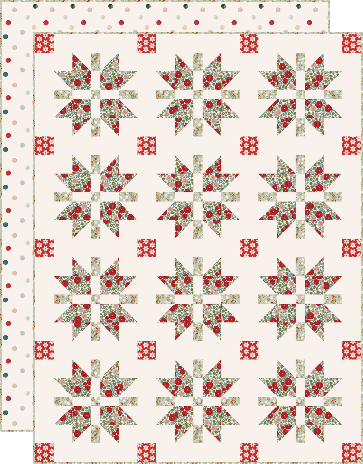 Christmas Joy Quilt with backing