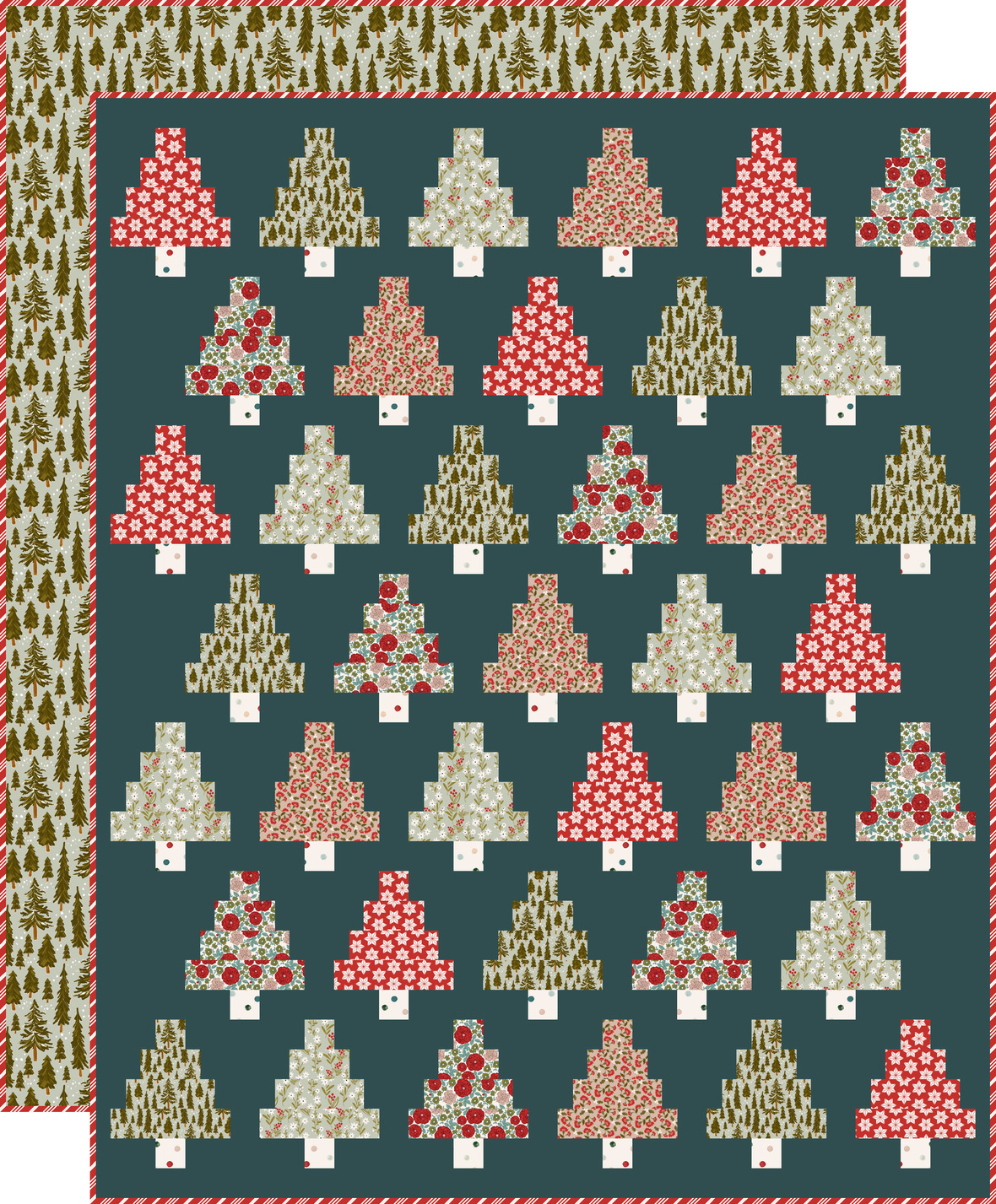 Quilty Trees with backing