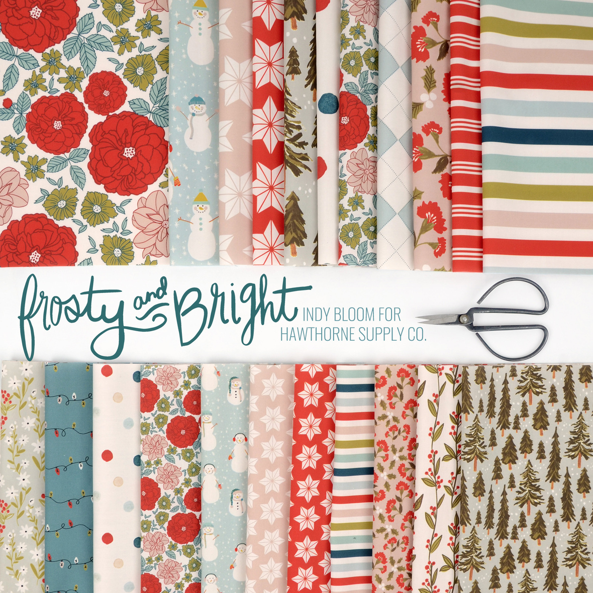 Frosty and Bright fabric Indy Bloom for Hawthorne Supply Co b