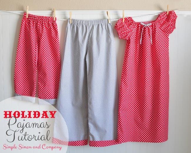 holiday pajamas tutorial--simplesimonandcompany found on crafting chicks