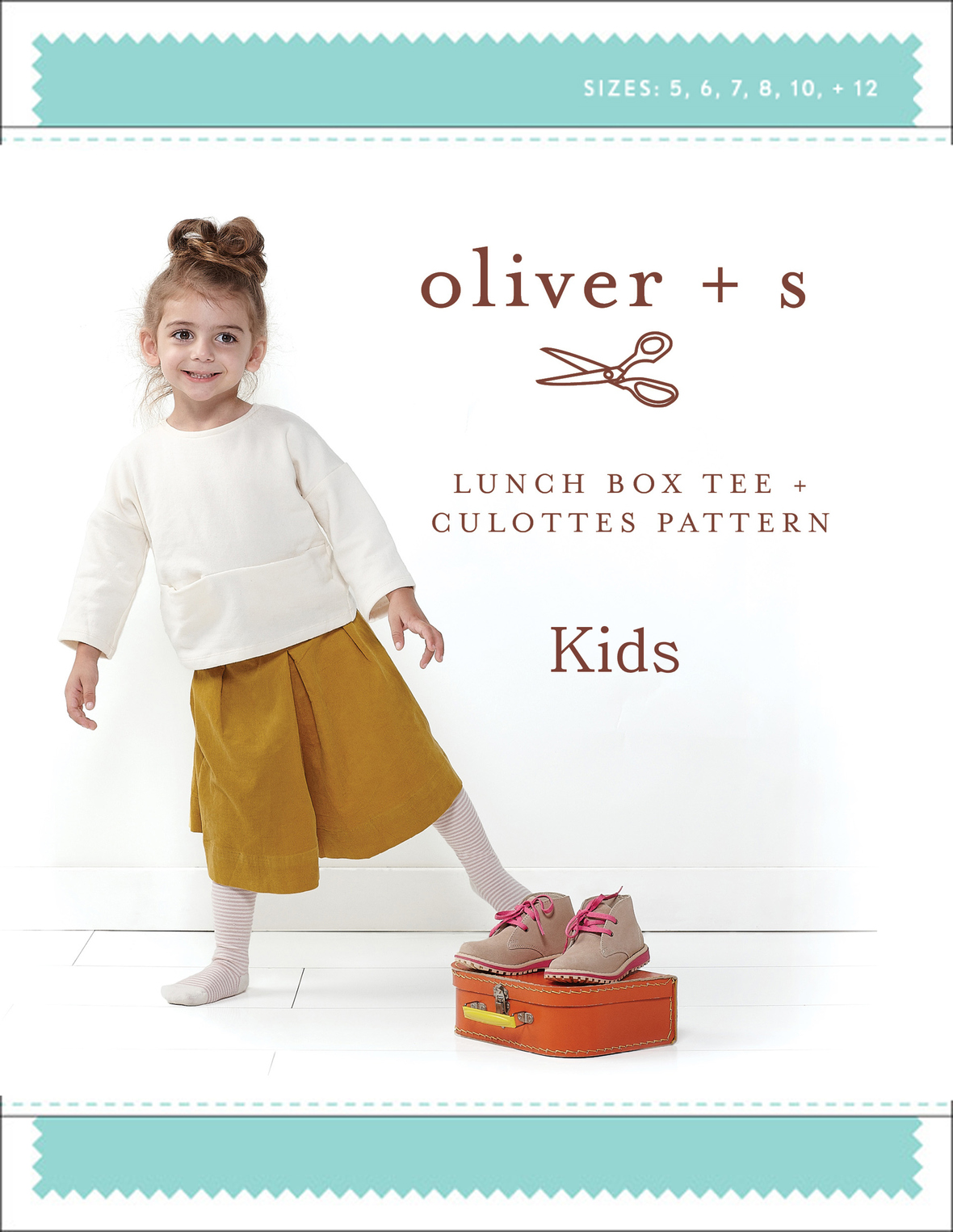oliver and s  kids lunch box tee and culottes sewing pattern