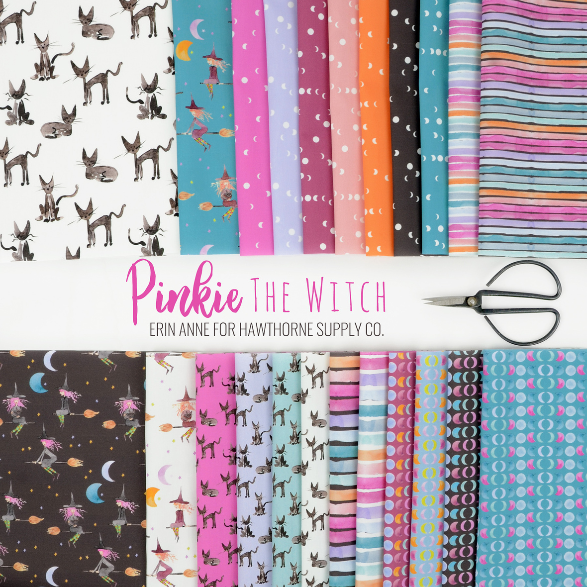 Pinkie the Witch Erin Anne for Hawthorne Supply Co. Halloween fabric