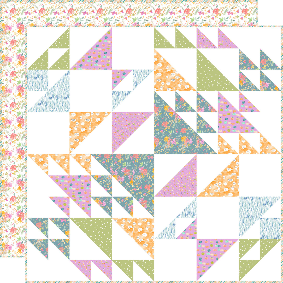 Whirlwind Quilt with backing