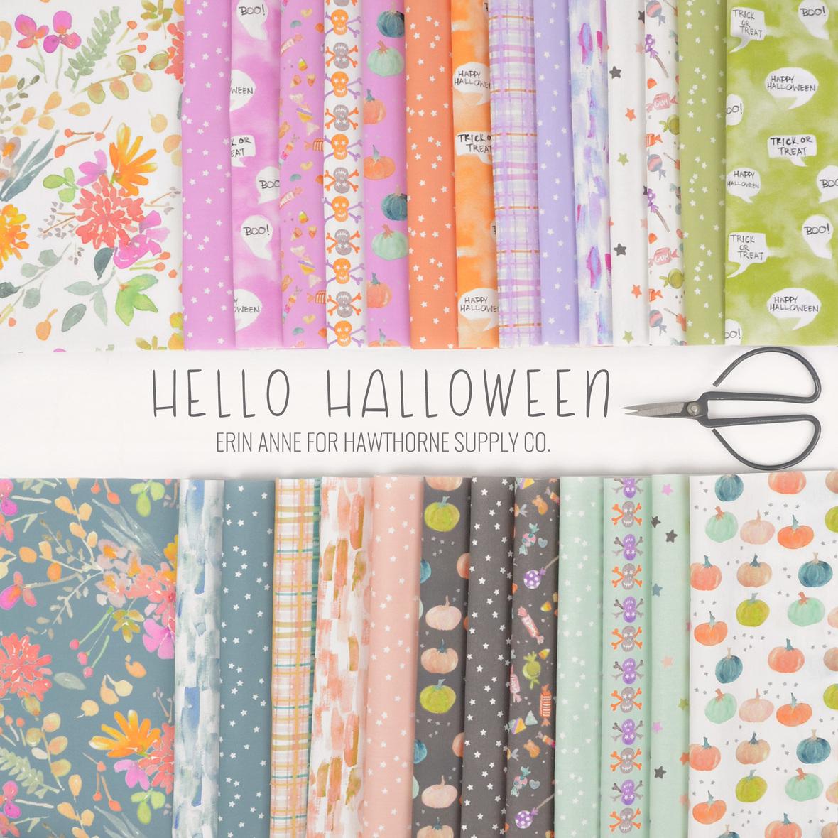 Hello Halloween fabric by Erin Anne for Hathorne Supply Co