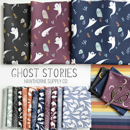 443 Ghost Stories Halloween Fabric at Hawthorne Supply Co