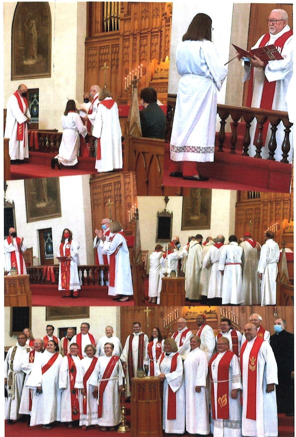 collage of pics from ordination