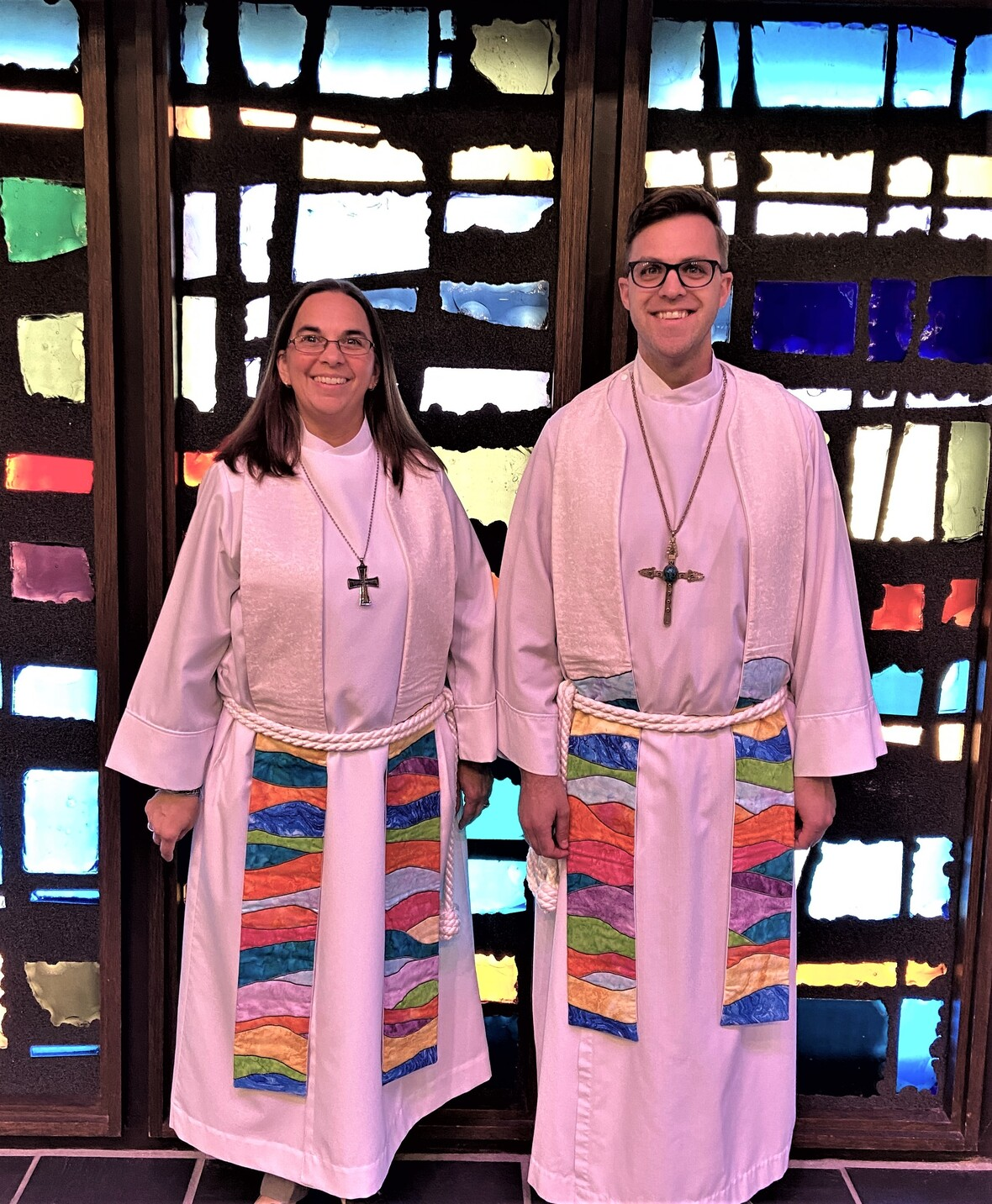 Pastor Chad and Katrina with new stoles
