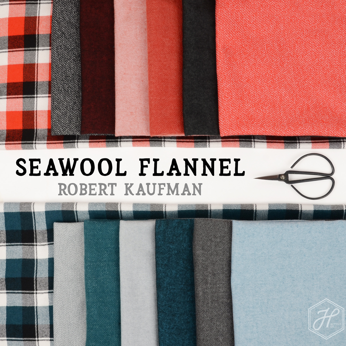 Seawool Flannel fabric from Robert Kaufman at Hawthorne Supply Co