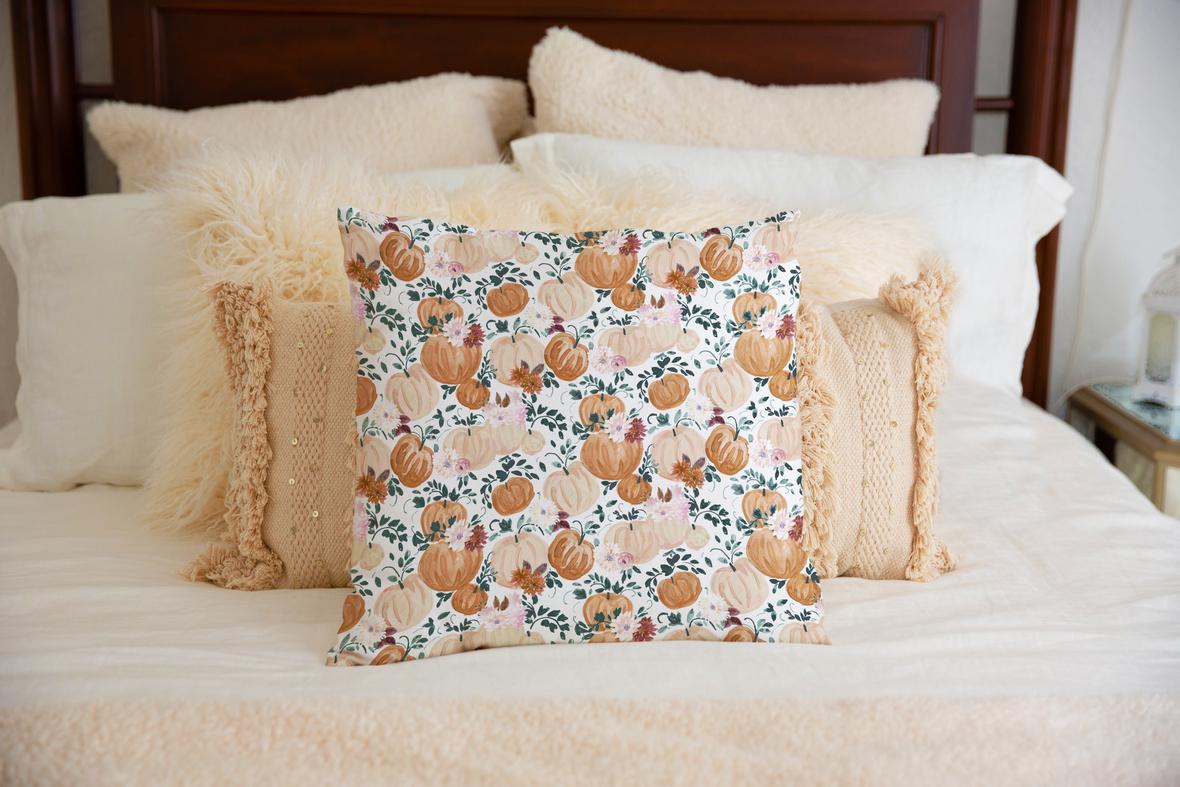 Pillow on Bed Harvest Moonlight b