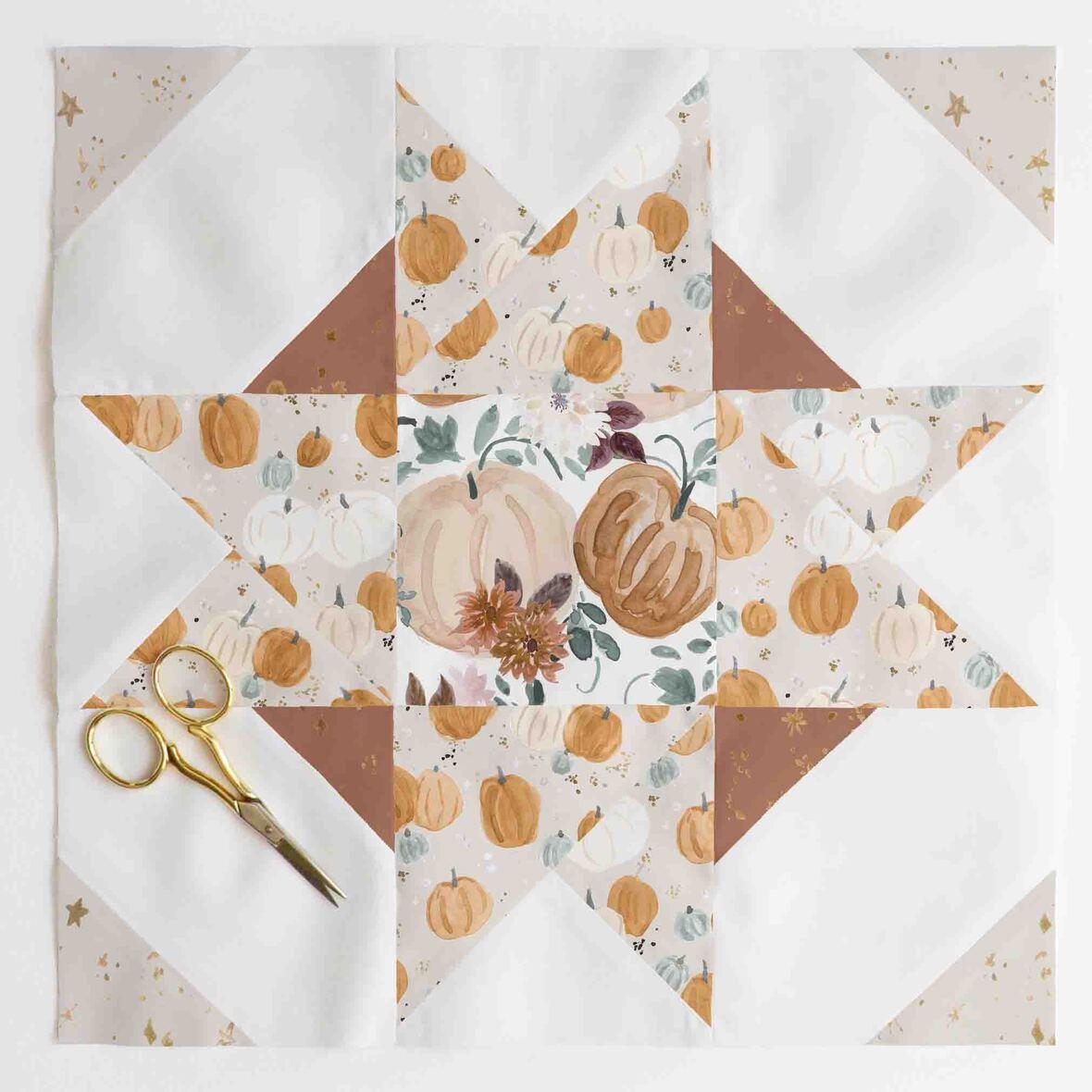 compass star quilt block 3.1
