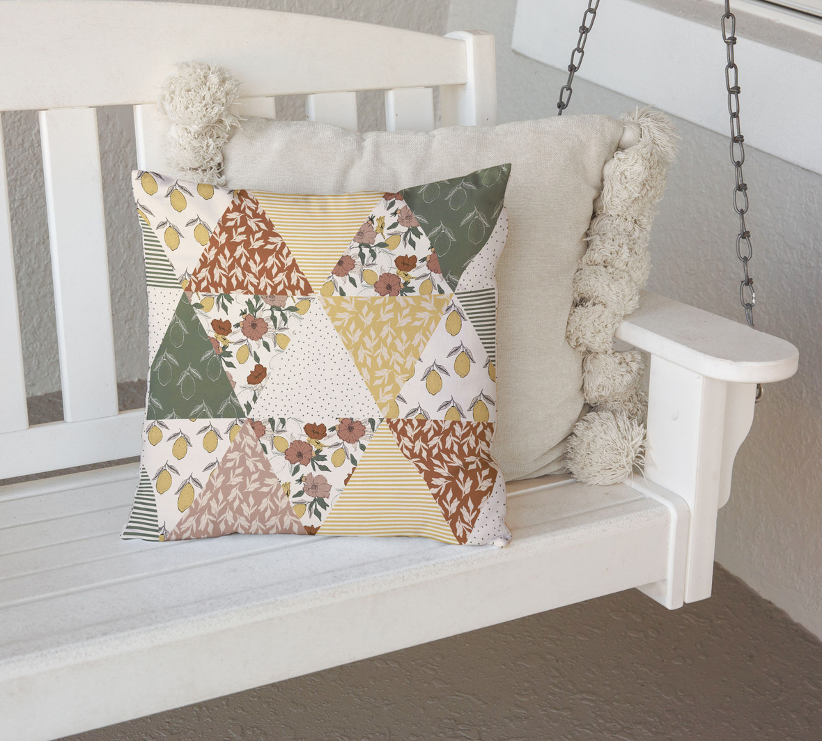 Pillow on Porch Swing