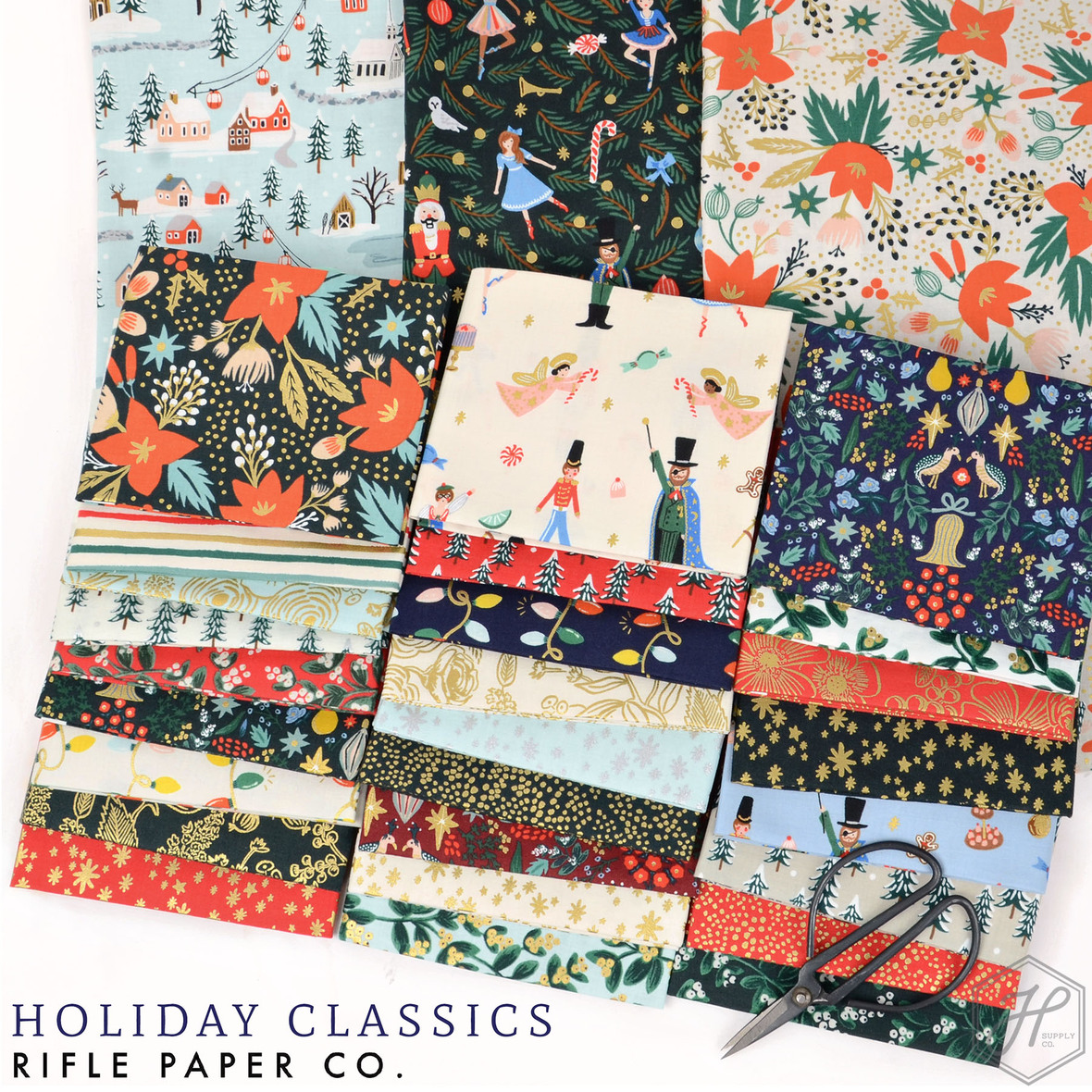 Holiday Classics Fabric Poster Rifle Paper Co at Hawthorne Supply Co