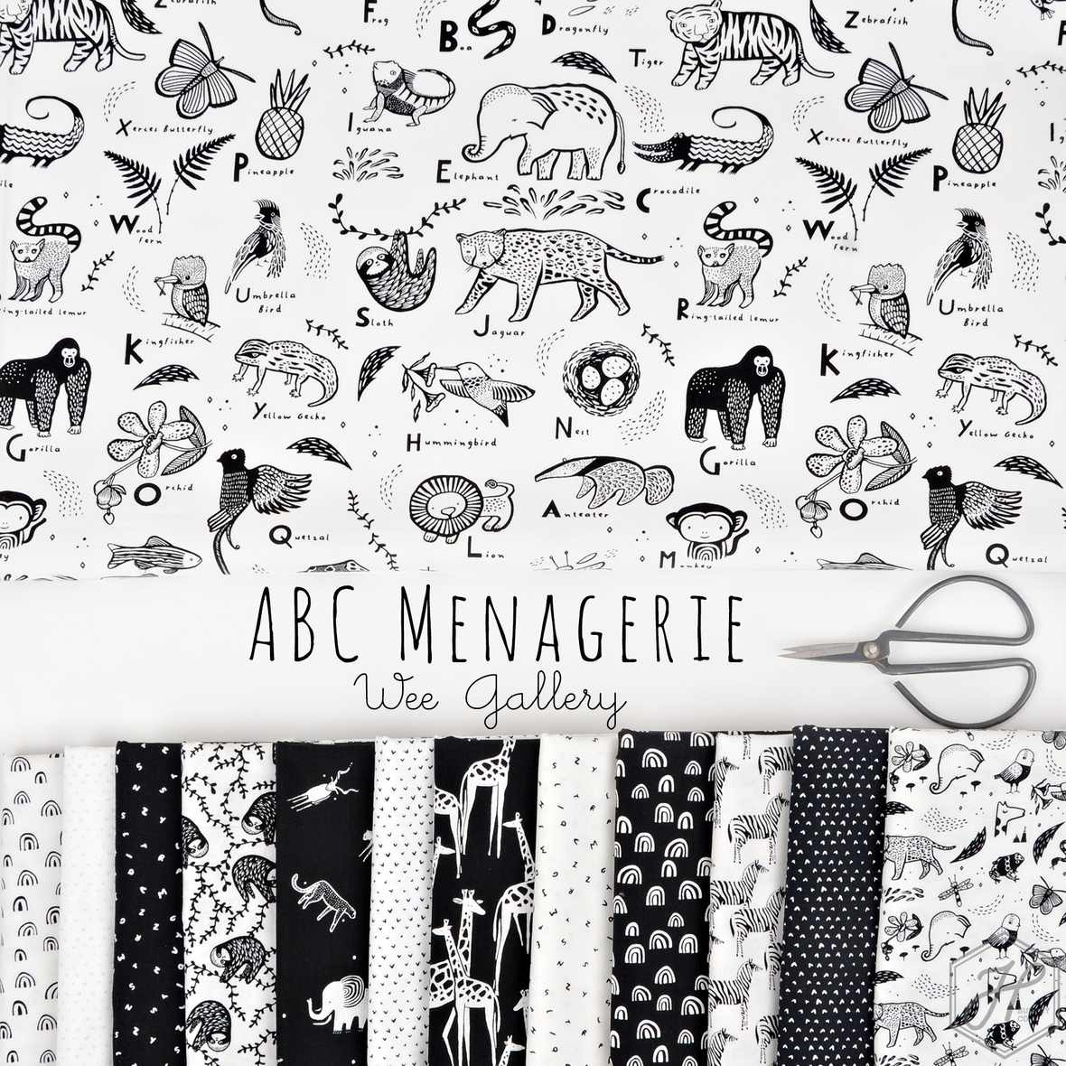 ABC Menagerie Wee Gallery for Dear Stella at Hawthorne Supply Co