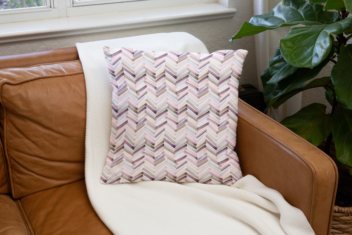 Pillow on Leather Couch Autumn Sunset 5