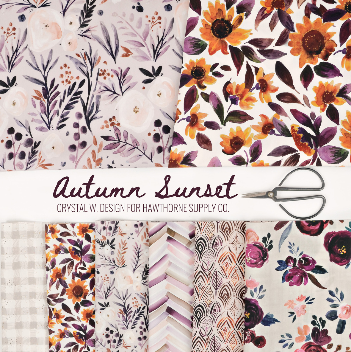 2 Autumn Sunset by Crystal Walen Design for Hawthorne Supply Co