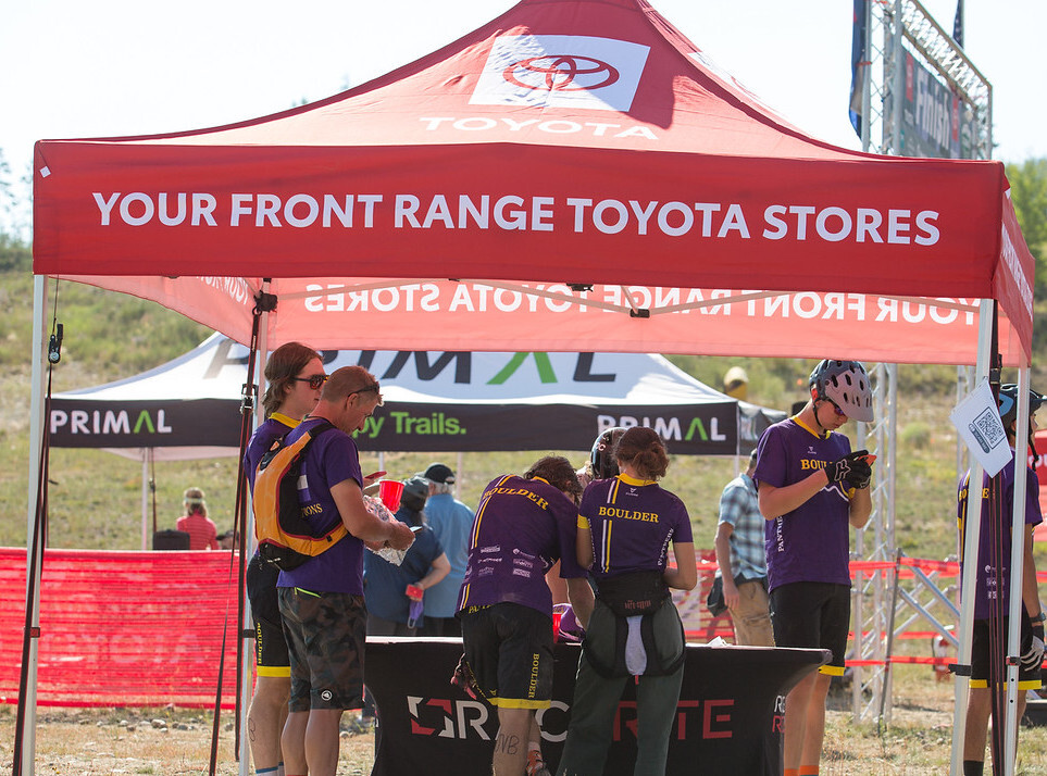 Toyota Results Tent