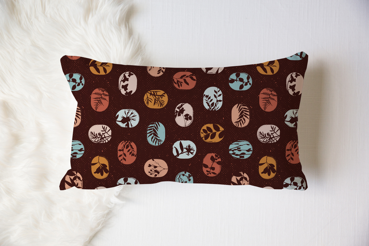 12x18 Pillow Fanciful Fronds 2