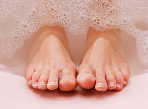 1. gently wash feet