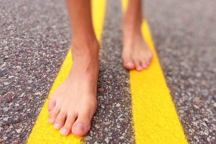 7. never walk barefoot