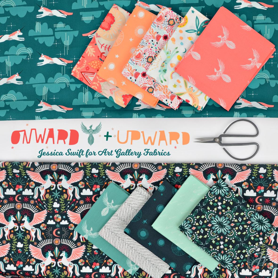 Onward and Upward fabric Jessica Swift for Art Gallery Fabrics b