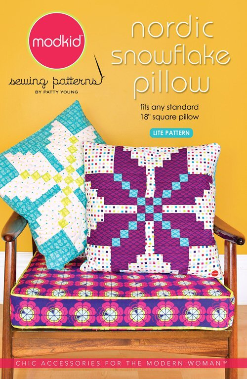 modkid house designer nordic snowflake pillow sewing pattern materials