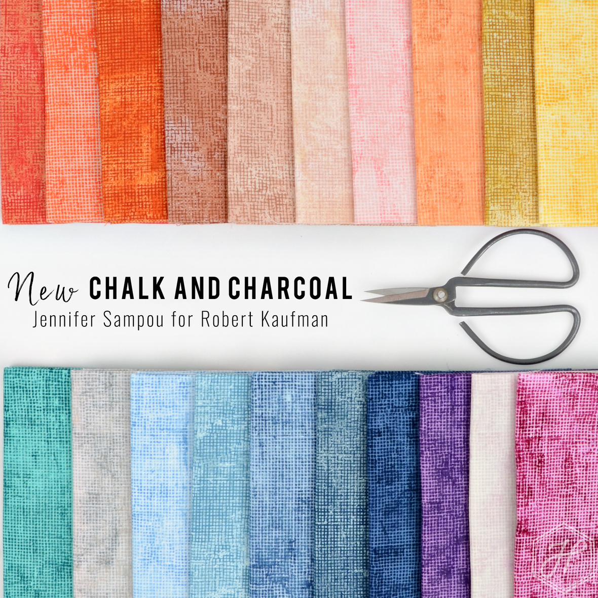 New Chalk and Charcoal colors Jennifer Sampou for Robert Kaufman fabric at Hawthorne Supply Co