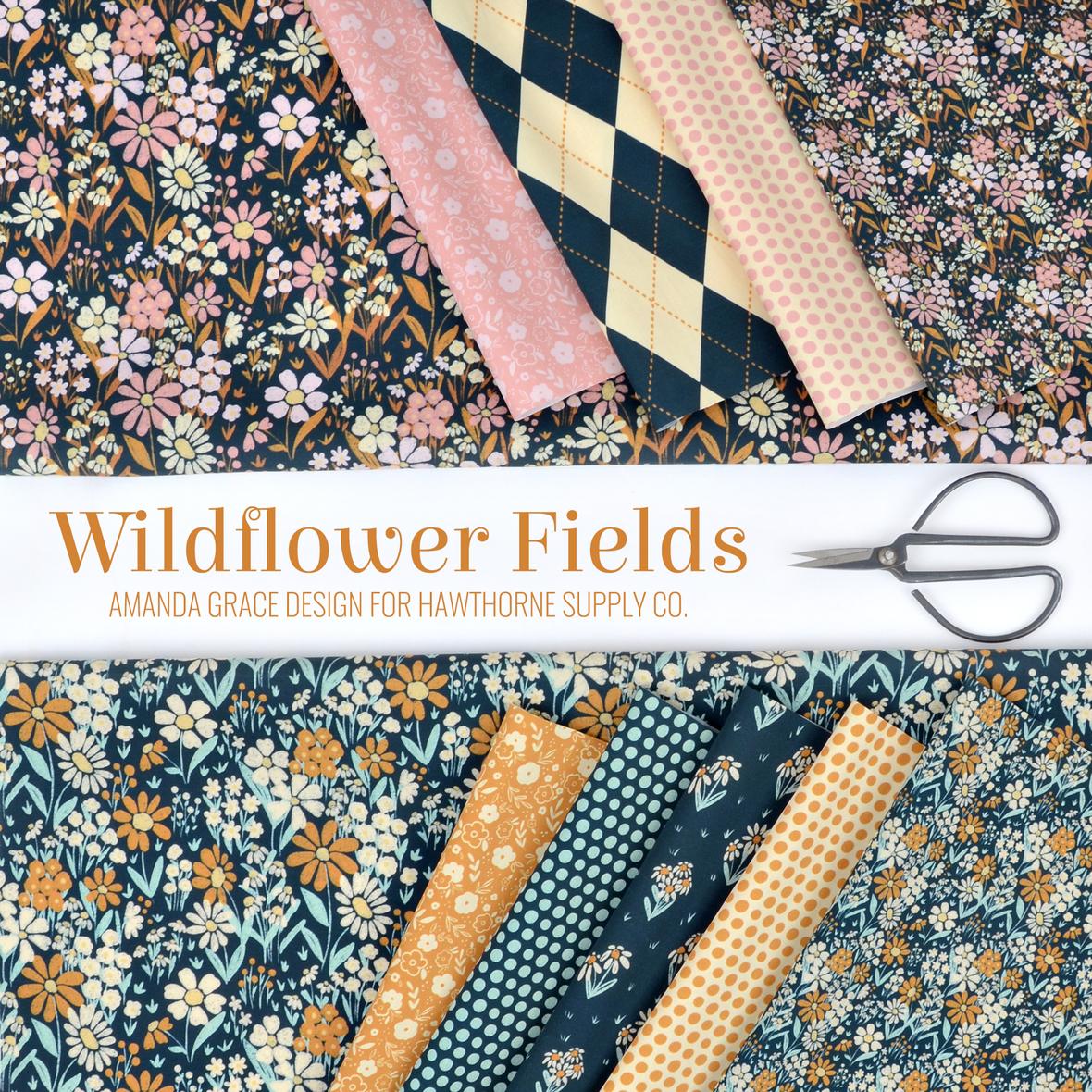 Wildflower Fields Amanda Grace Design Fabric for Hawthorne Supply Co.