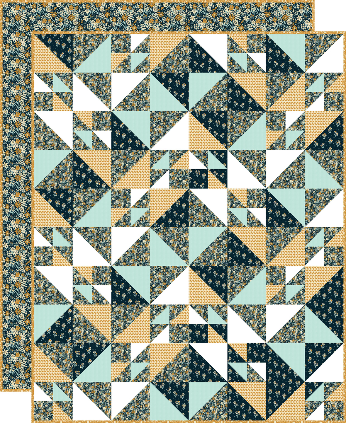 Birds Hill Quilt with backing