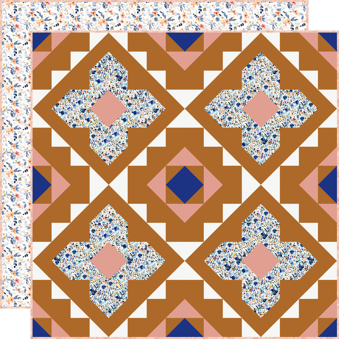 Spruce Woods Quilt with backing