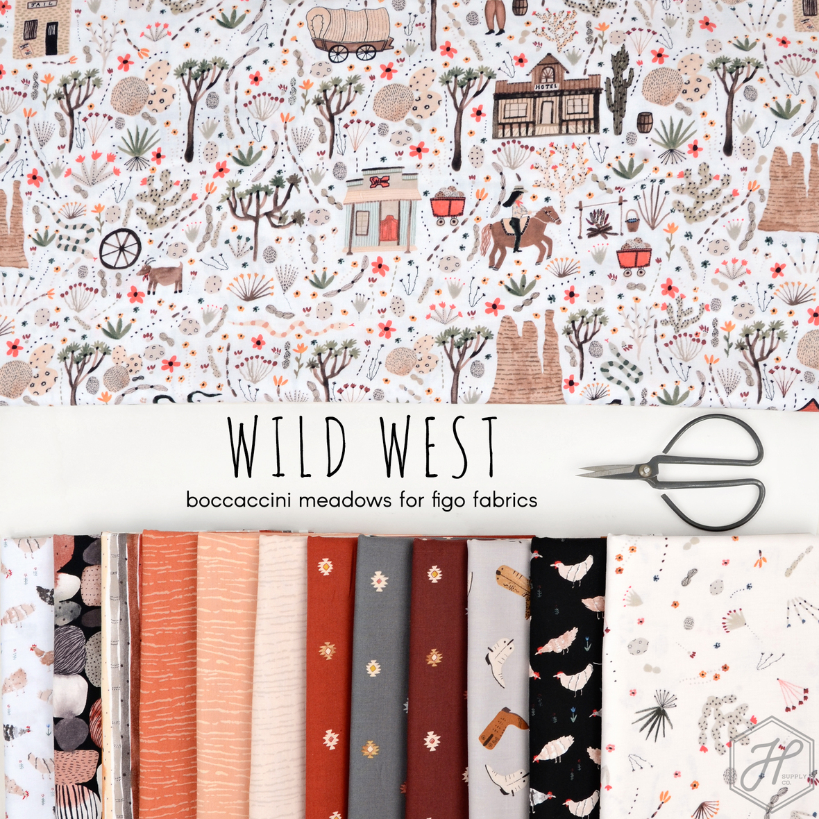 Wild West Boccaccini meadows for Figo Fabrics at Hawthorne Supply Co.
