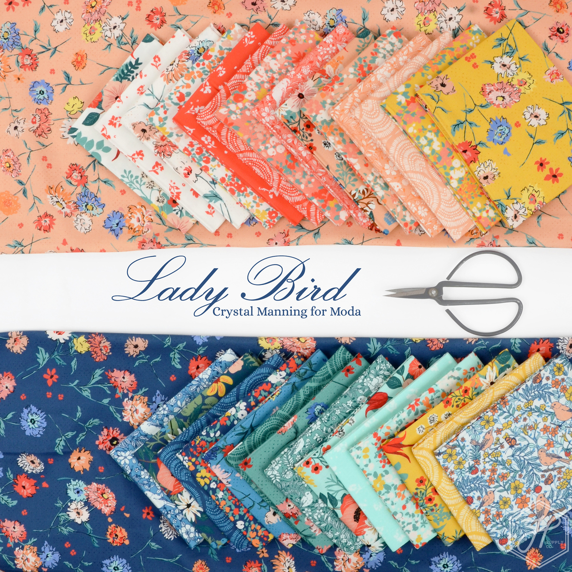 Lady Bird fabric by Crystal Manning for Moda at Hawthorne Supply Co