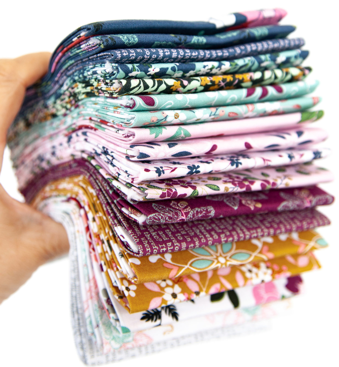 Whimsical Romance fabric stack