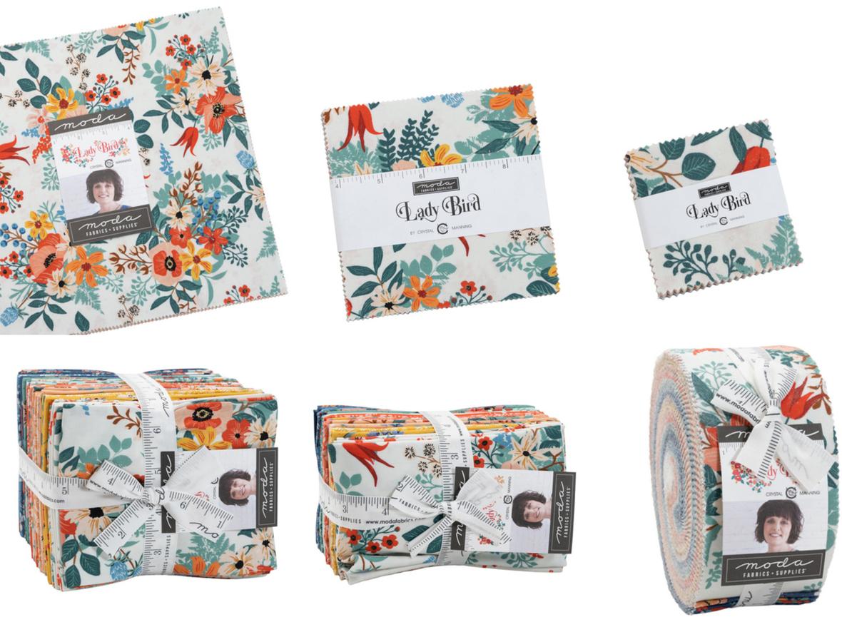 Lady Bird fabric pre-cuts