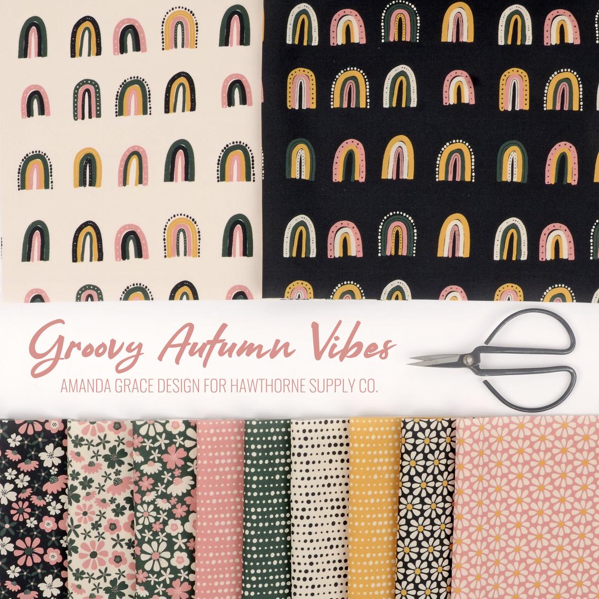 Groovy Autumn Vibes Amanda Grace fabric for Hawthorne Supply Co b
