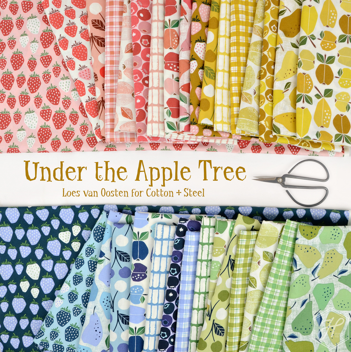 Under the Apple Tree fabric Loes van Oosten for Cotton and Steel at Hawthorne Supply Co