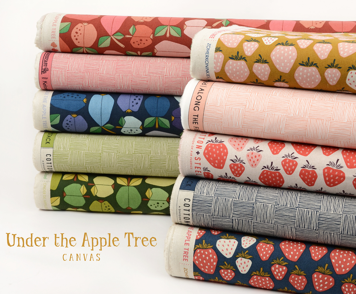 Under the Apple Tree Canvas Loes van Oosten for Cotton and Steel at Hawthorne Supply Co 2