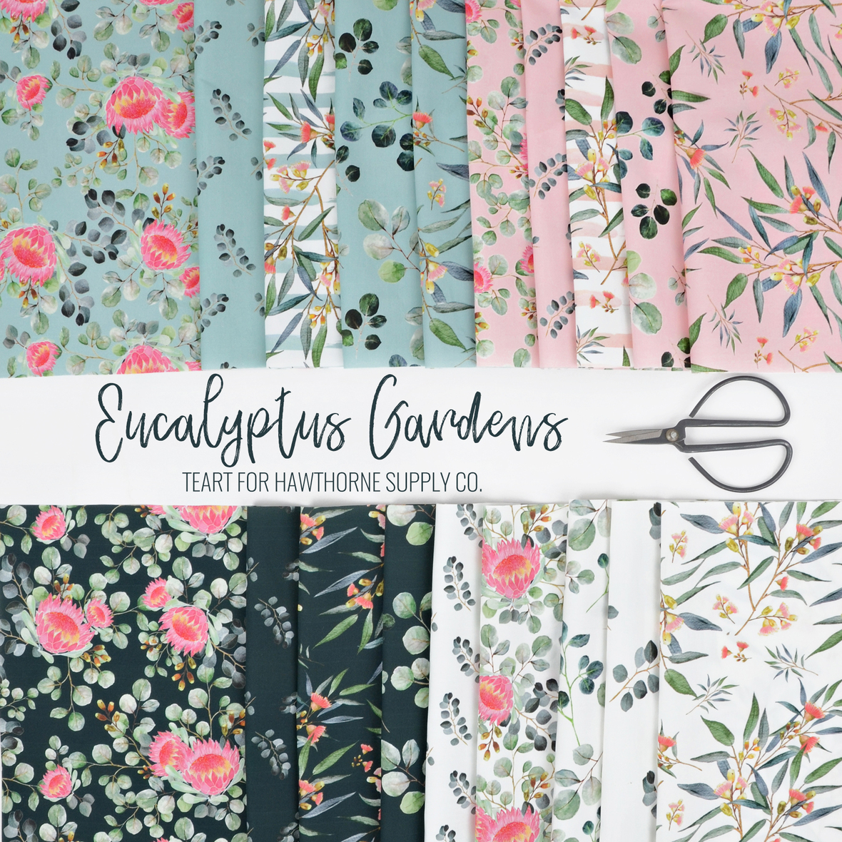 B Eucalyptus Gardens fabric by Teart for Hawthorne Supply Co.