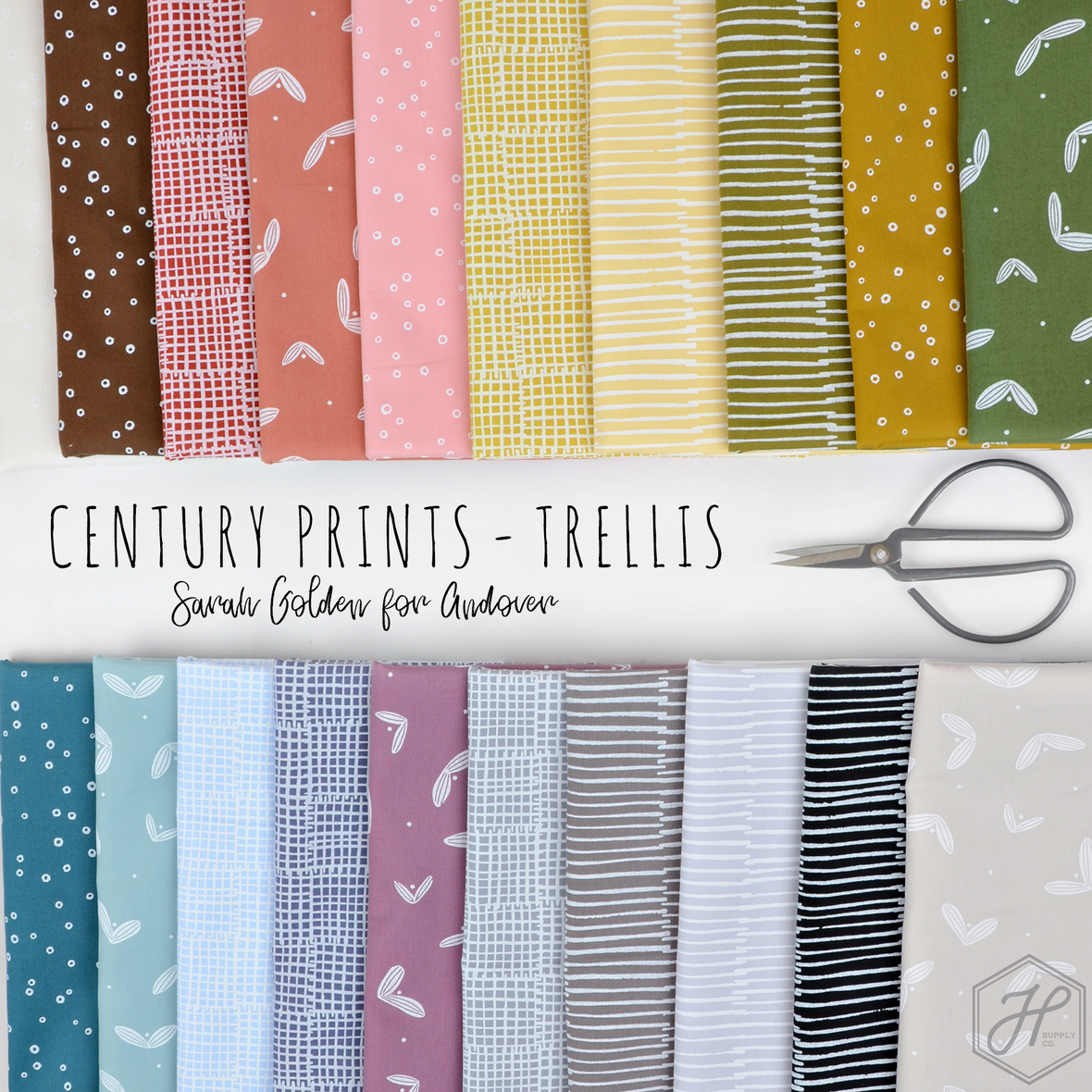 Century Prints Trellis fabric Sarah Golden for Andover at Hawthorne Supply Co.