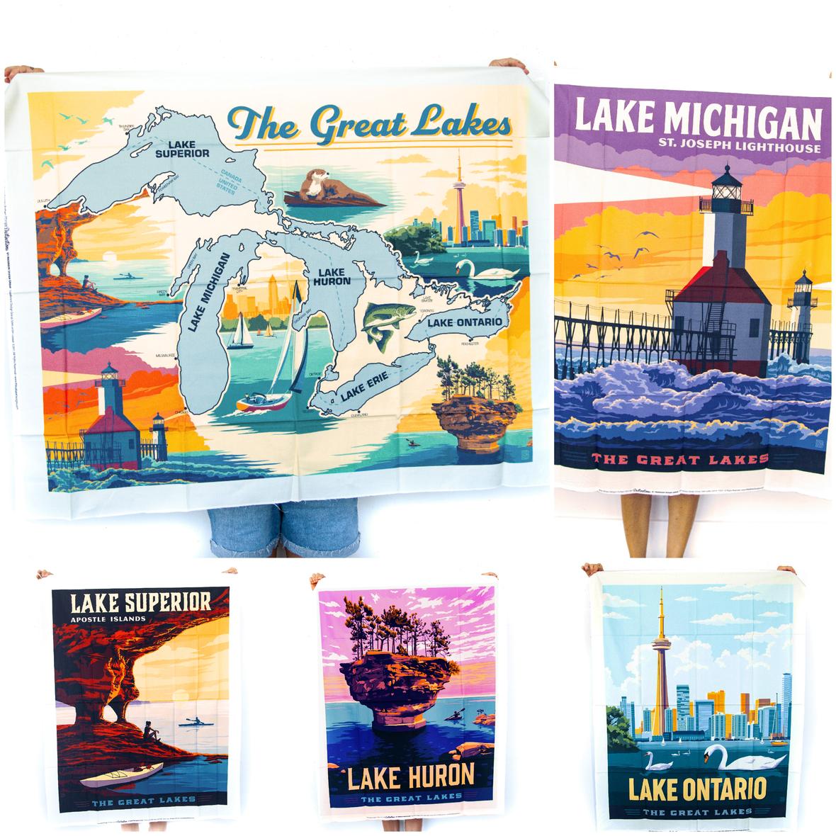 New Destinations Panels Riley Blake Great Lakes