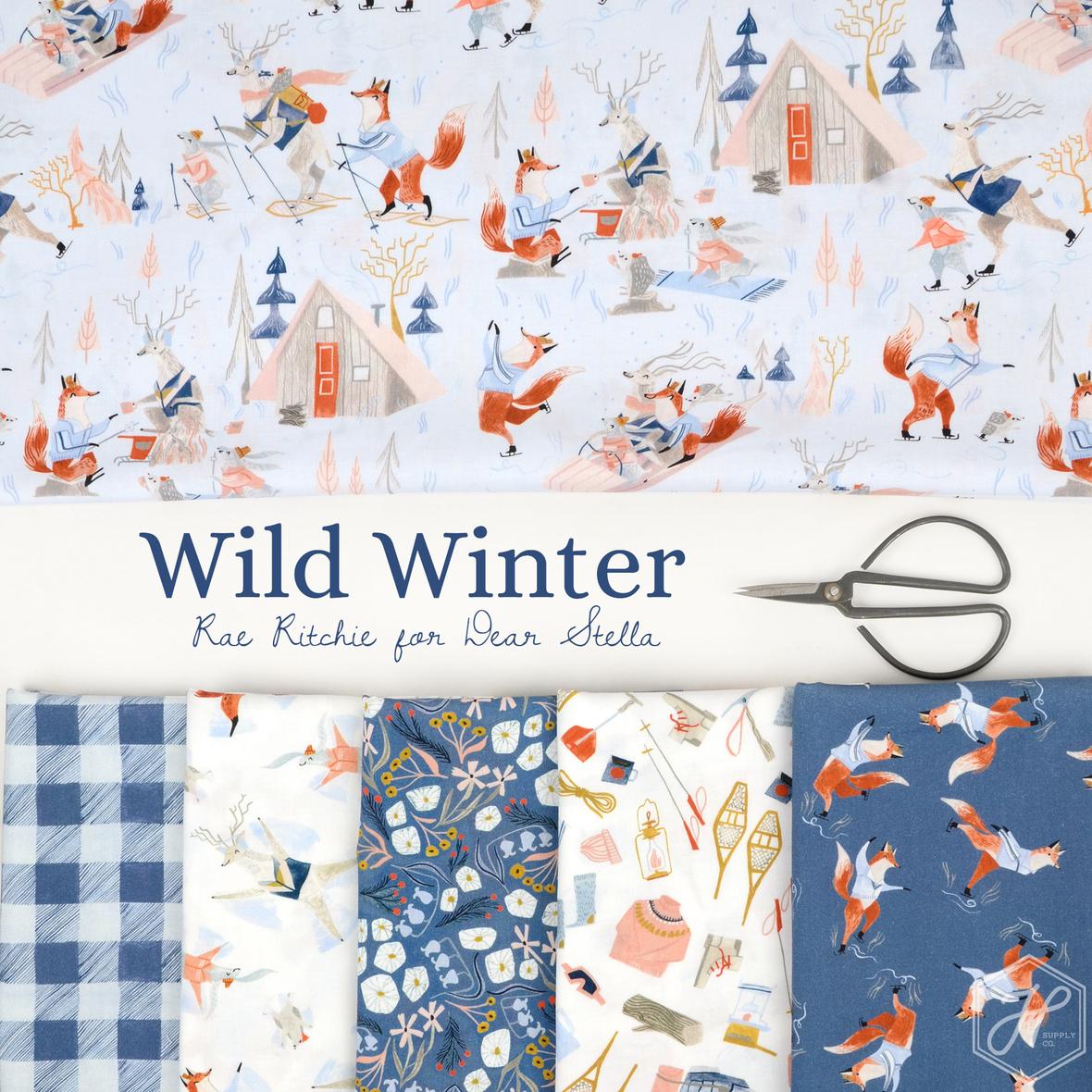 Wild Winter Rae Ritchie fabric for Dear Stella