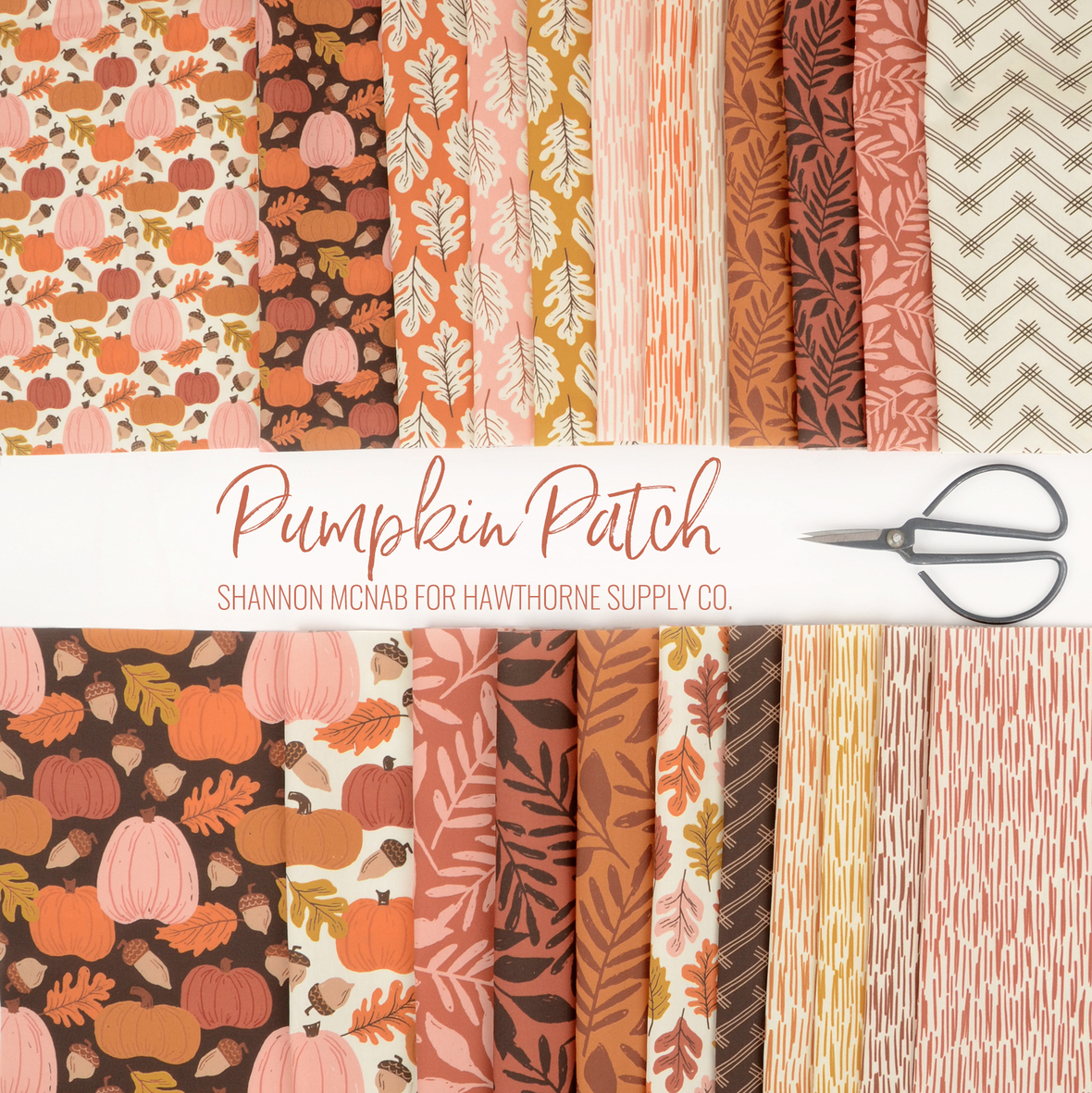 Pumpkin Patch by Shannon McNab fall fabric at Hawthorne Supply Co.