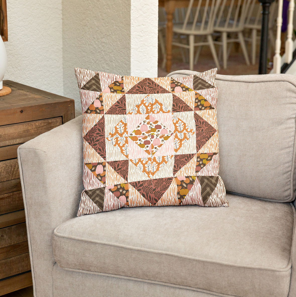 Pillow on Beige Chair