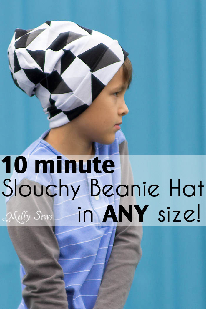 Melly Sews- beanie Hat free tutorial