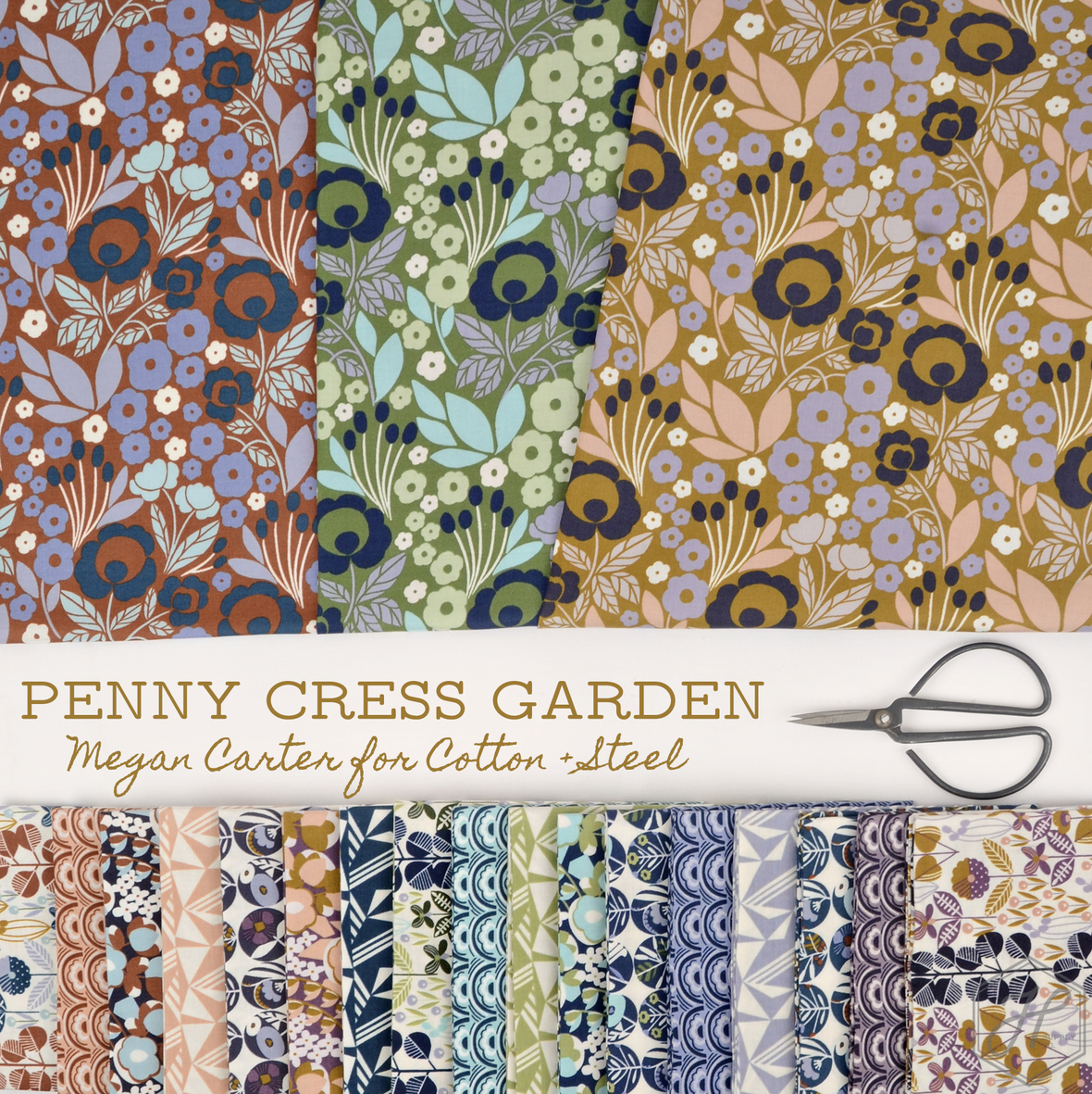 Penny Cress Garden Megan Carter for Cotton and Steel at Hawthorne Supply Co