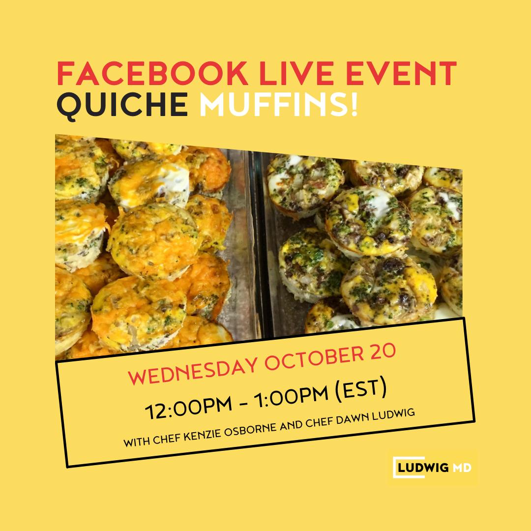 facebook live event - quiche muffins